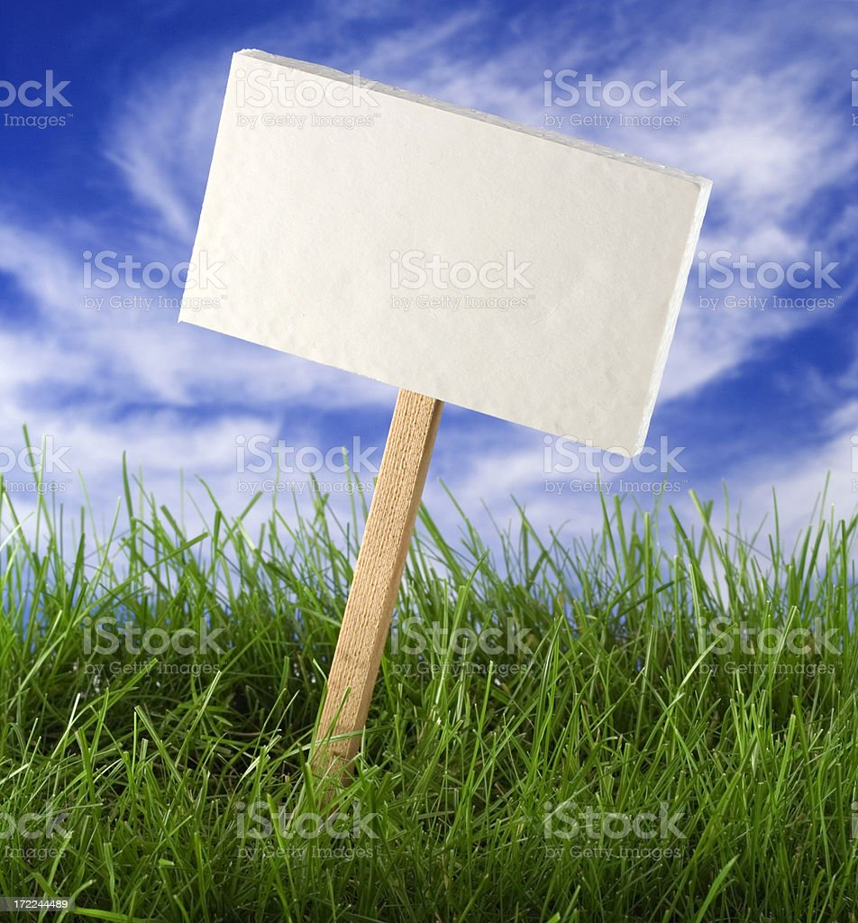 Blank Table in the Grass royalty-free stock photo