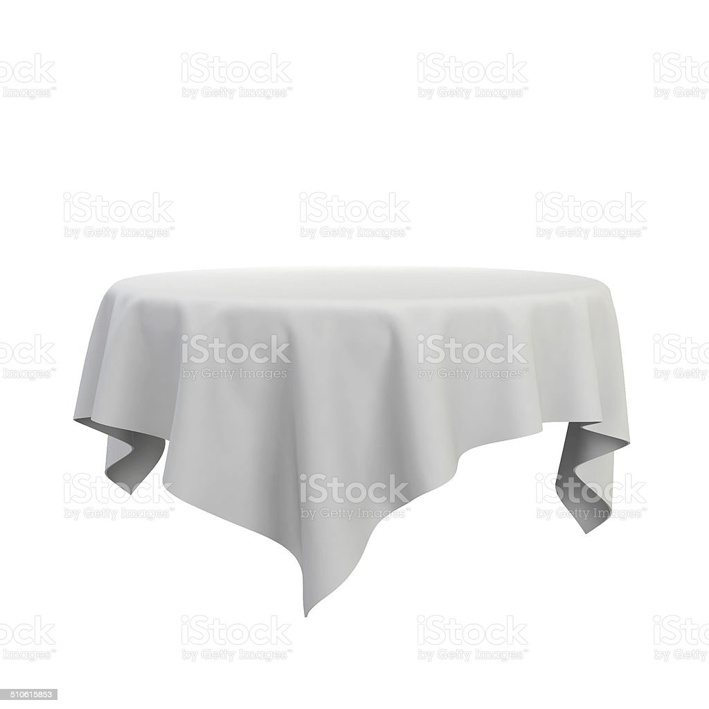 Blank tablecloth stock photo
