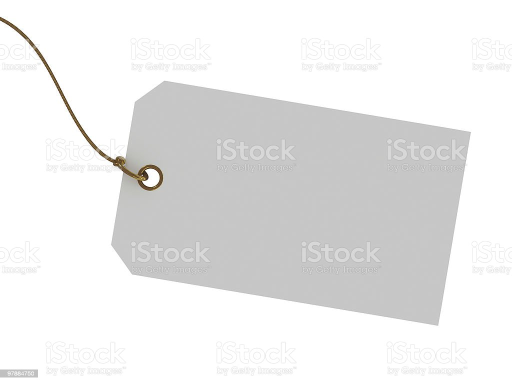 Blank tag isolated on white background royalty-free stock photo