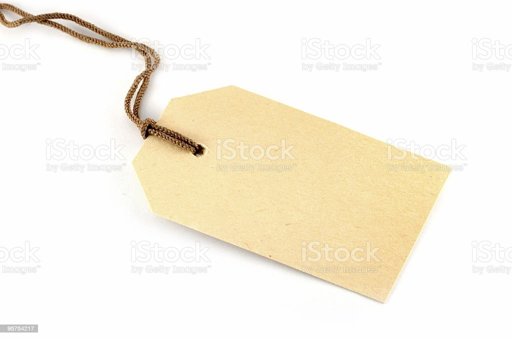 Blank tag isolated on white royalty-free stock photo