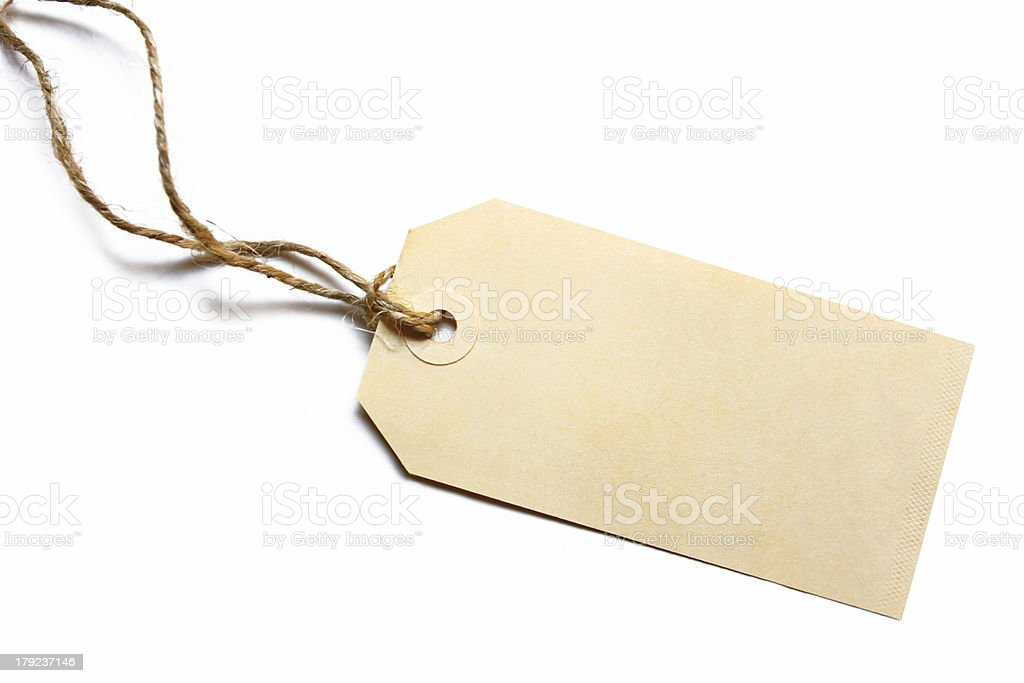 Blank Tag stock photo