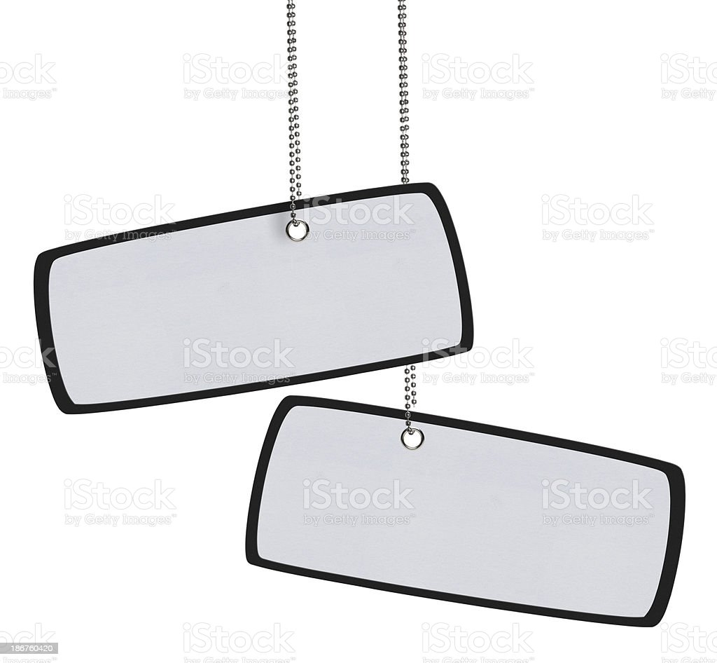 Blank Tag (Clipping Path) royalty-free stock photo