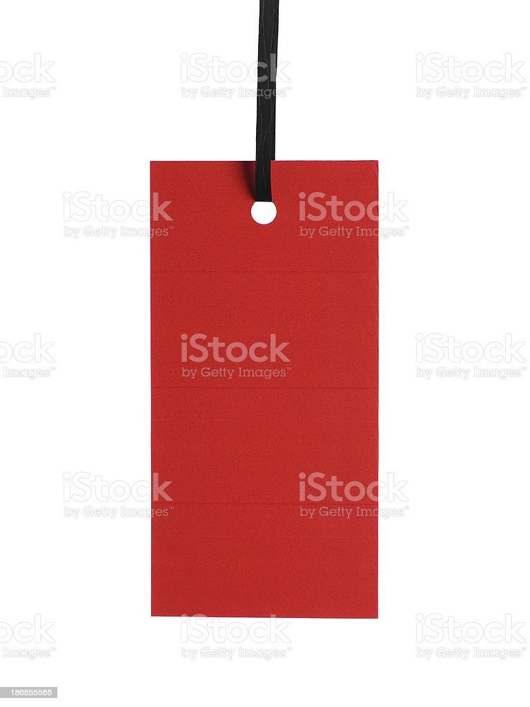 Blank tag stock photo