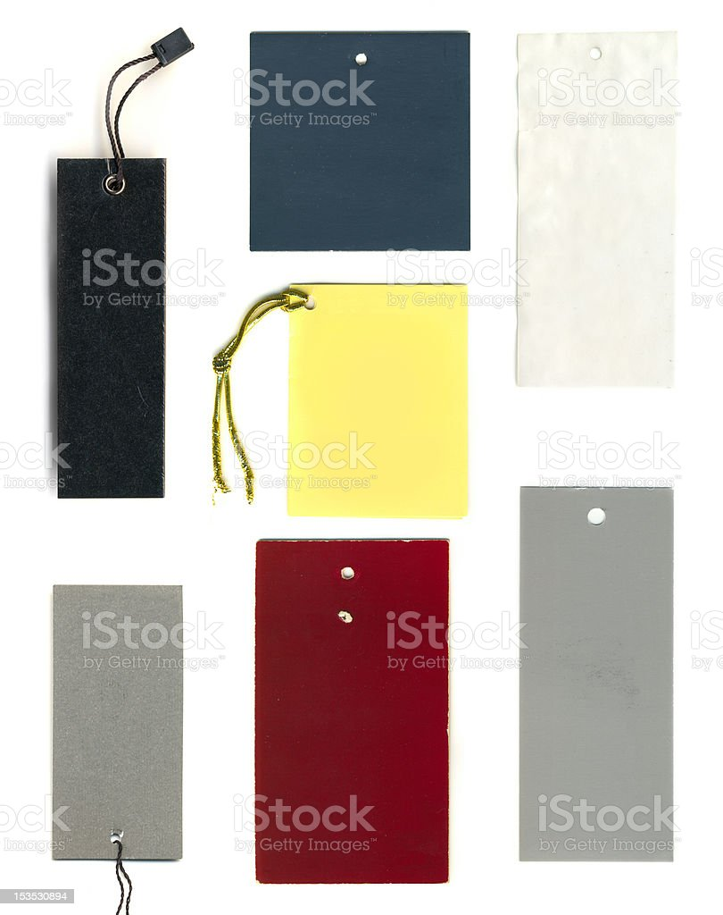 Blank tags 2 royalty-free stock photo