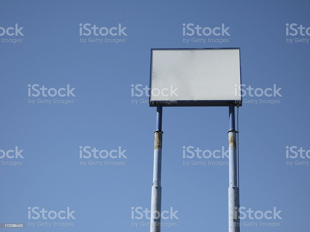 Blank Tall Road Sign stock photo