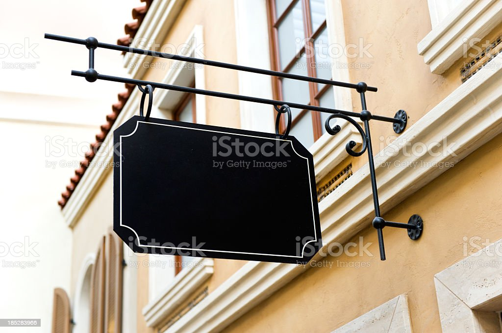 Blank template sign for an old locale royalty-free stock photo