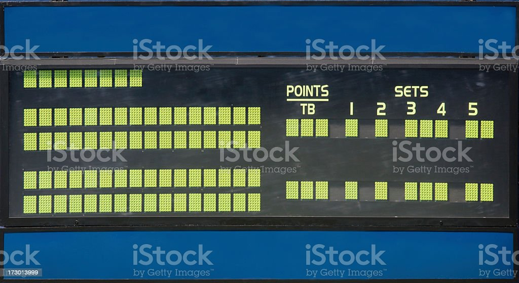 Blank Tennis Scoreboard royalty-free stock photo