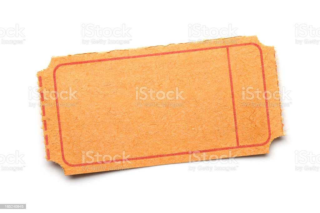 Blank ticket stock photo