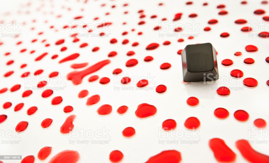 Blank Tiles in a Sea of Red Drops stock photo