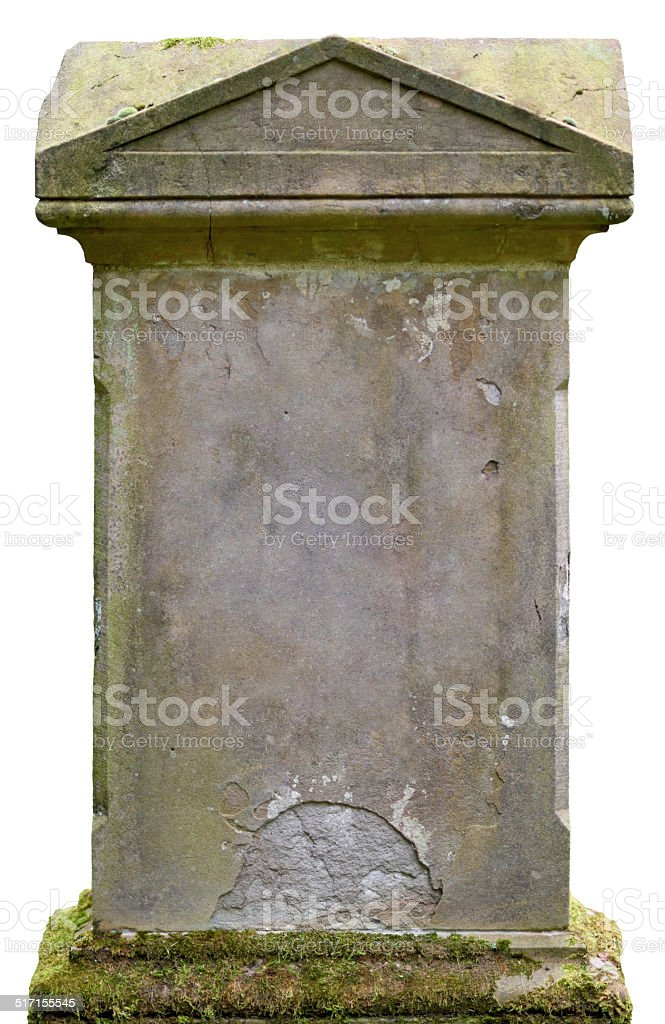 blank tombstone stock photo