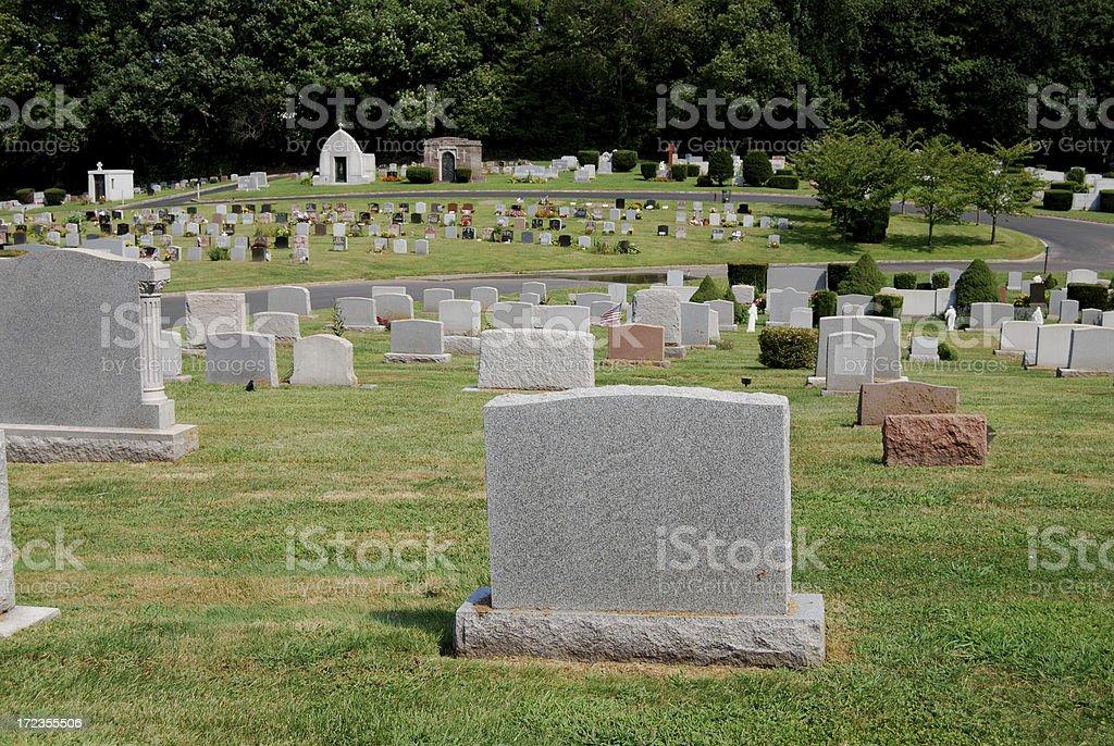 Blank Tombstones stock photo
