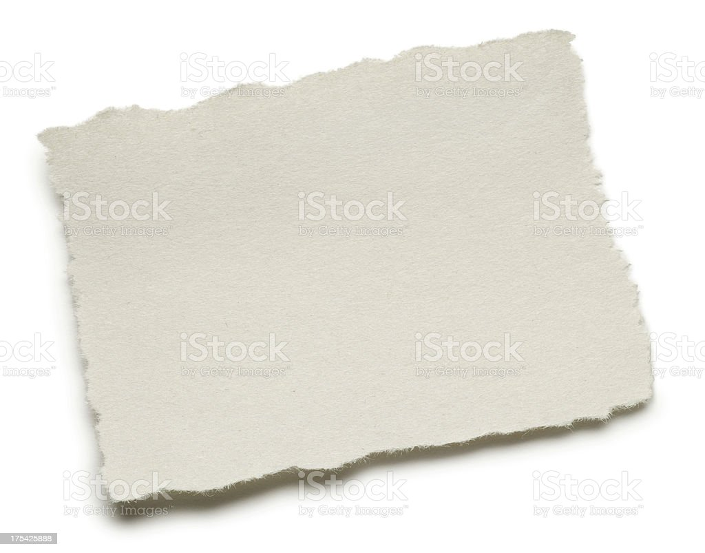 Blank Torn Page stock photo