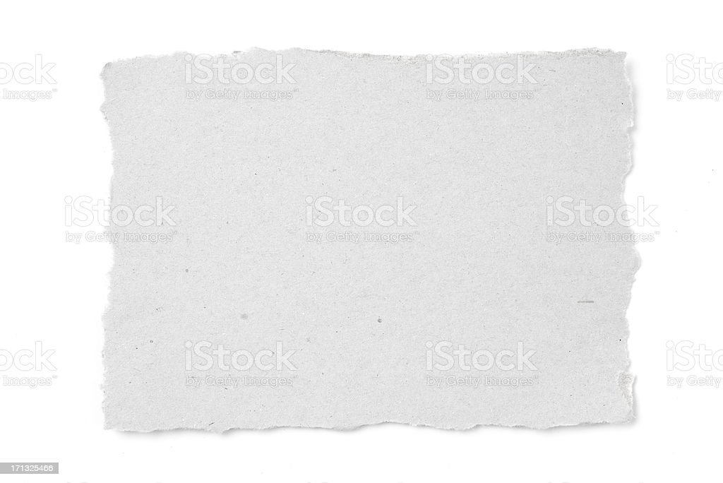 Blank torn paper (xxxL 36MP) royalty-free stock photo