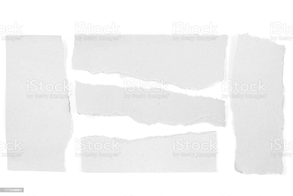 Blank torn paper stock photo