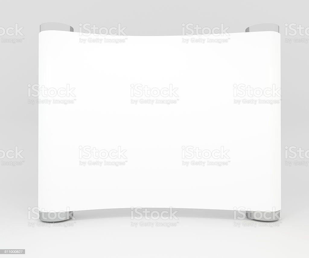 Blank trade show booth for design stock photo