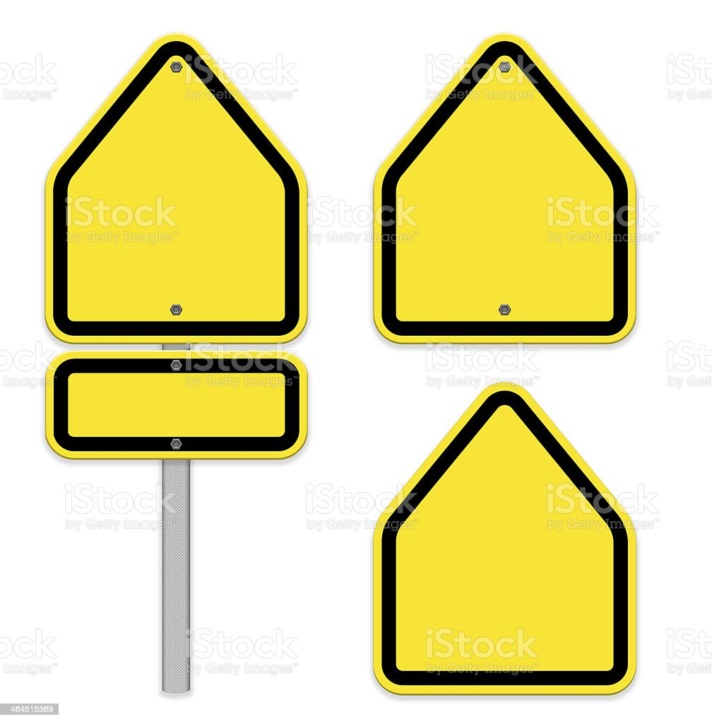 Blank traffic sign, Easy to edit,part of a series. royalty-free stock photo