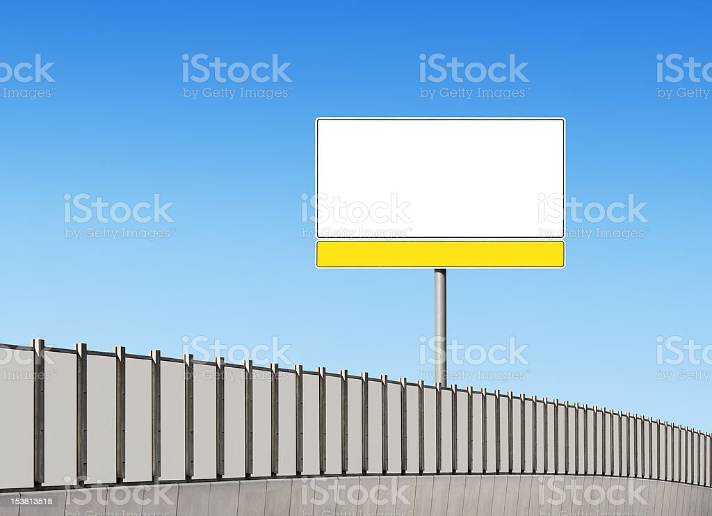 Blank traffic sign on the highway royalty-free stock photo