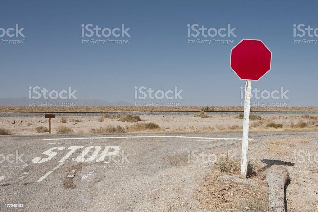 Blank traffic sign stock photo