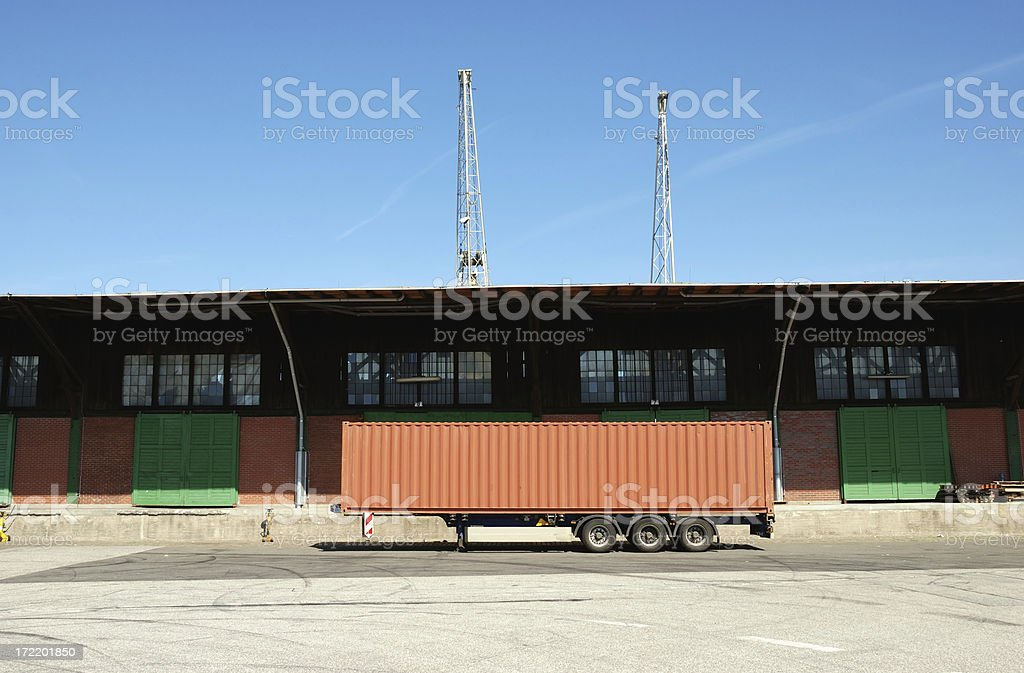 blank trailer royalty-free stock photo