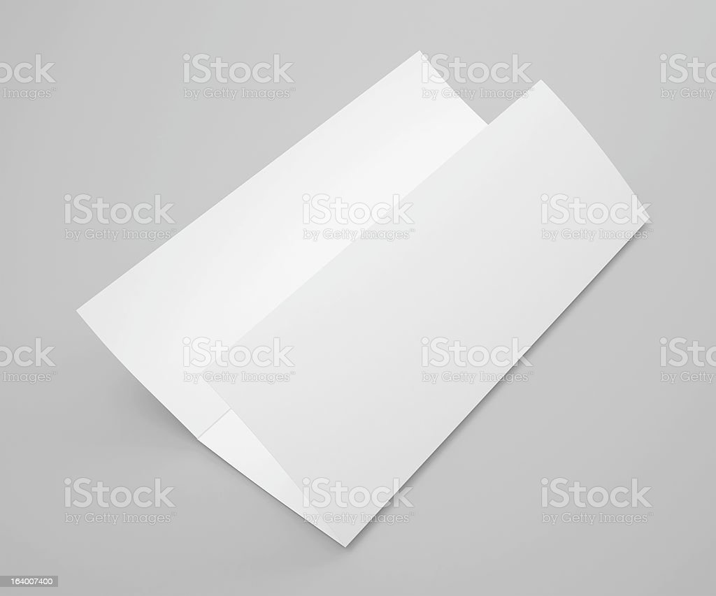 Blank trifold brochure flyer royalty-free stock photo