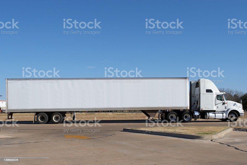 Blank Truck stock photo