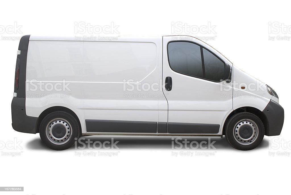 Blank truck ready for branding stock photo
