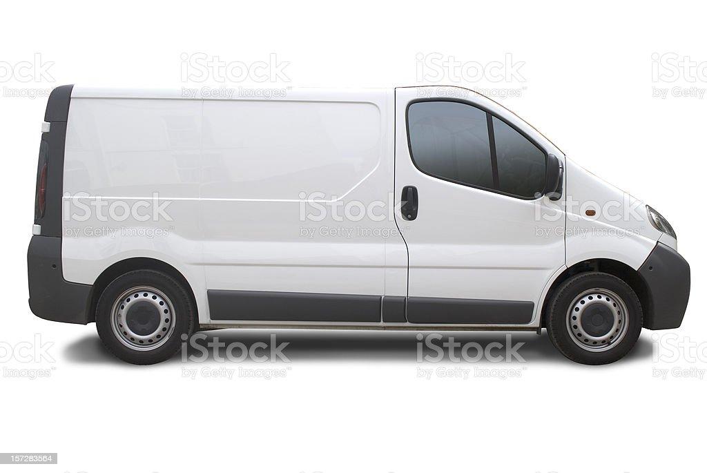 Blank truck ready for branding stock photo