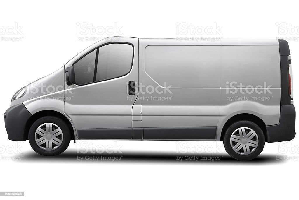 blank truck with clipping path stock photo