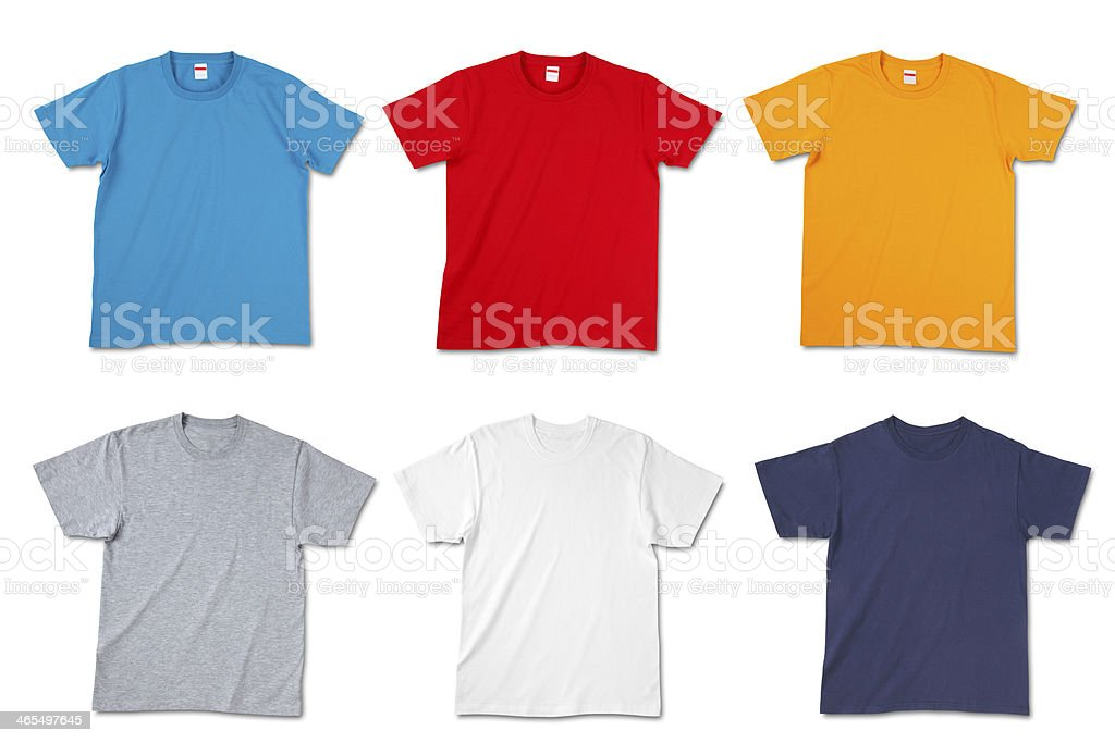 Blank T-shirts/clipping path stock photo