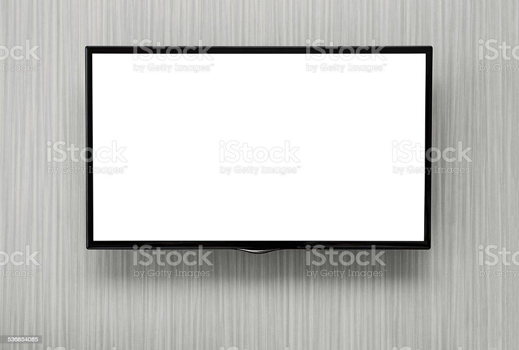 Blank TV stock photo