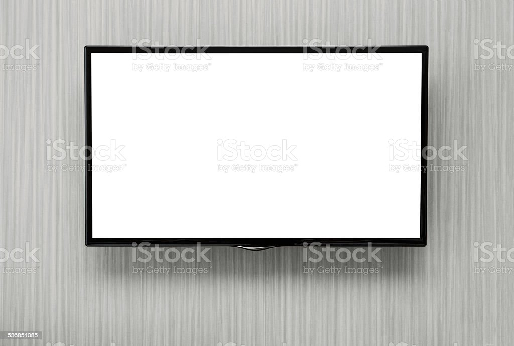 Blank TV stock photo