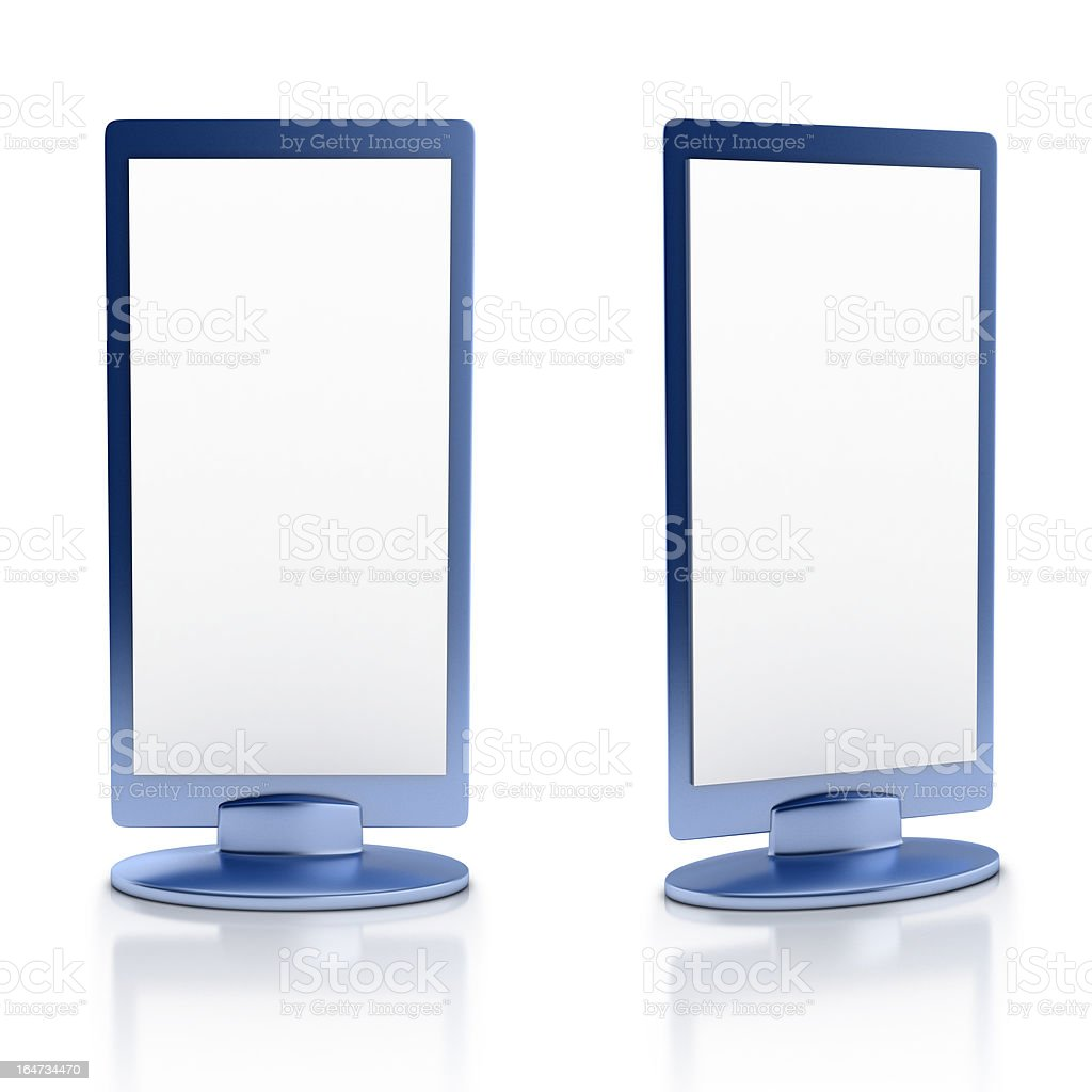 blank vertical advertisement boards royalty-free stock photo