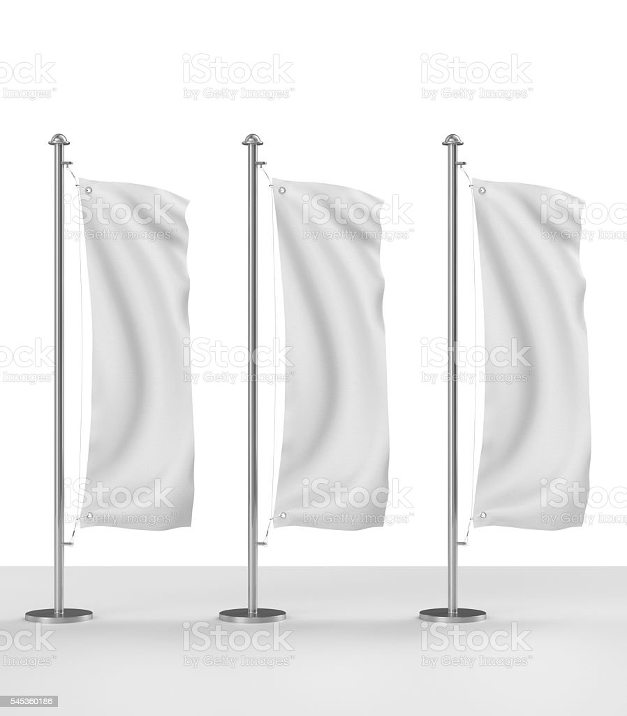 blank vertical realistic flag stock photo