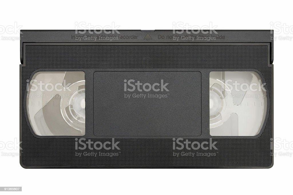 Blank video cassette stock photo