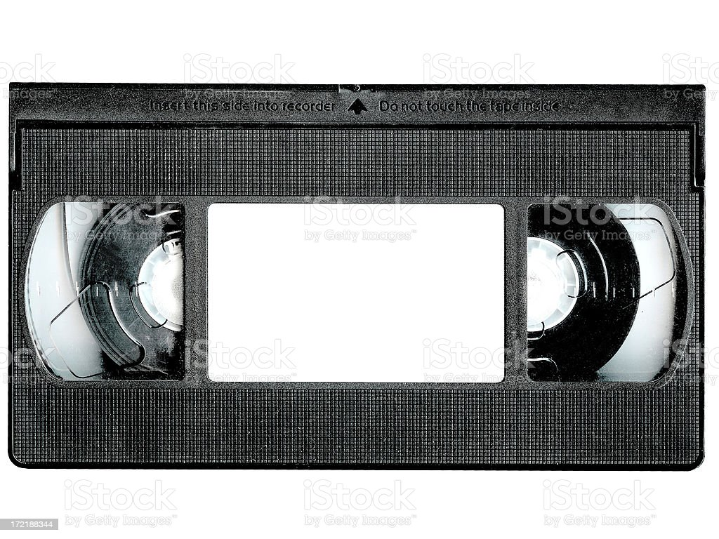 Blank Video Tape stock photo
