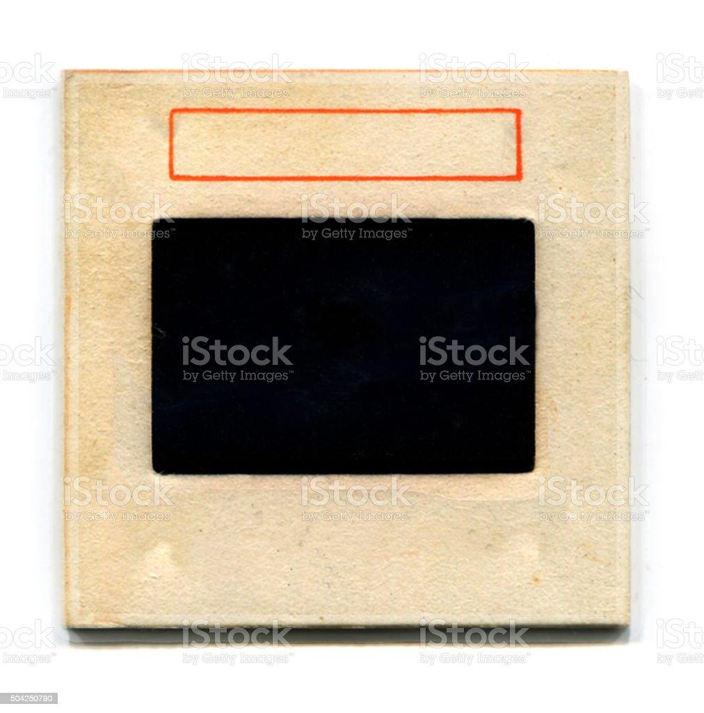 Blank vintage cardboard slide film mount stock photo