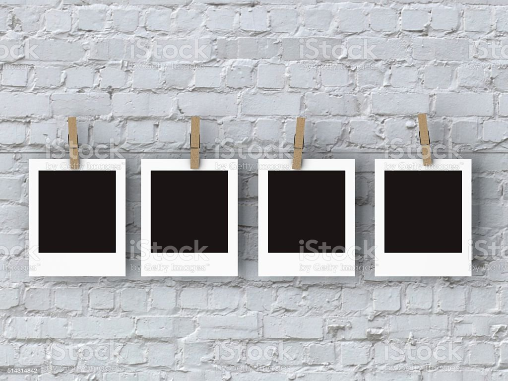 Blank vintage photo royalty-free stock photo