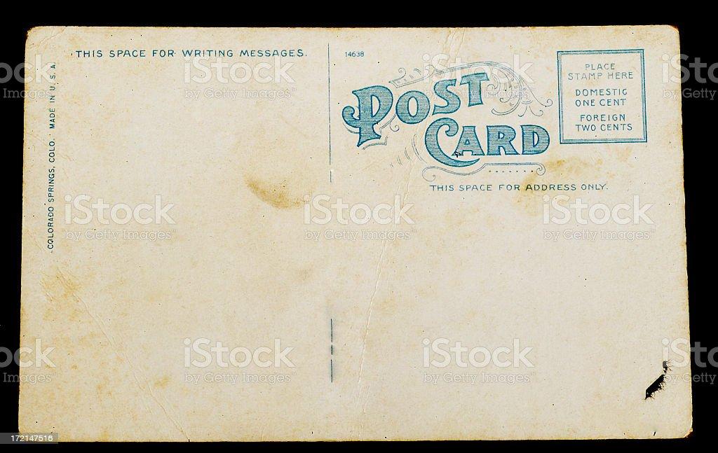 blank vintage postcard: 1 royalty-free stock photo