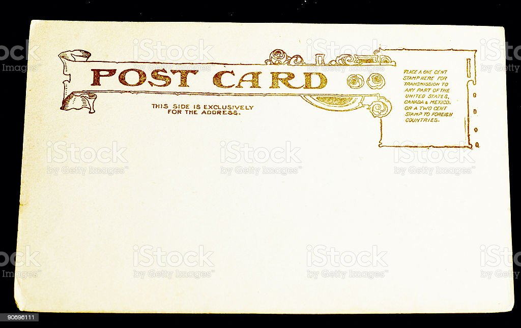 blank vintage postcard: 9 royalty-free stock photo