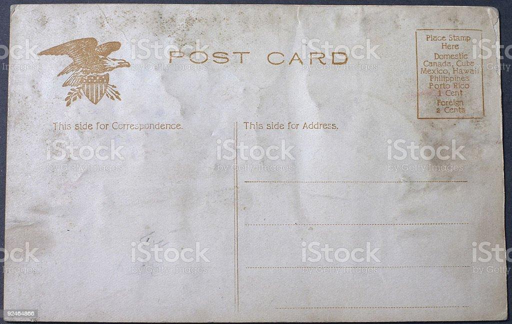 blank vintage postcard royalty-free stock photo