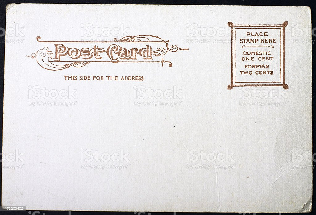 BLANK VINTAGE POSTCARD royalty-free stock photo
