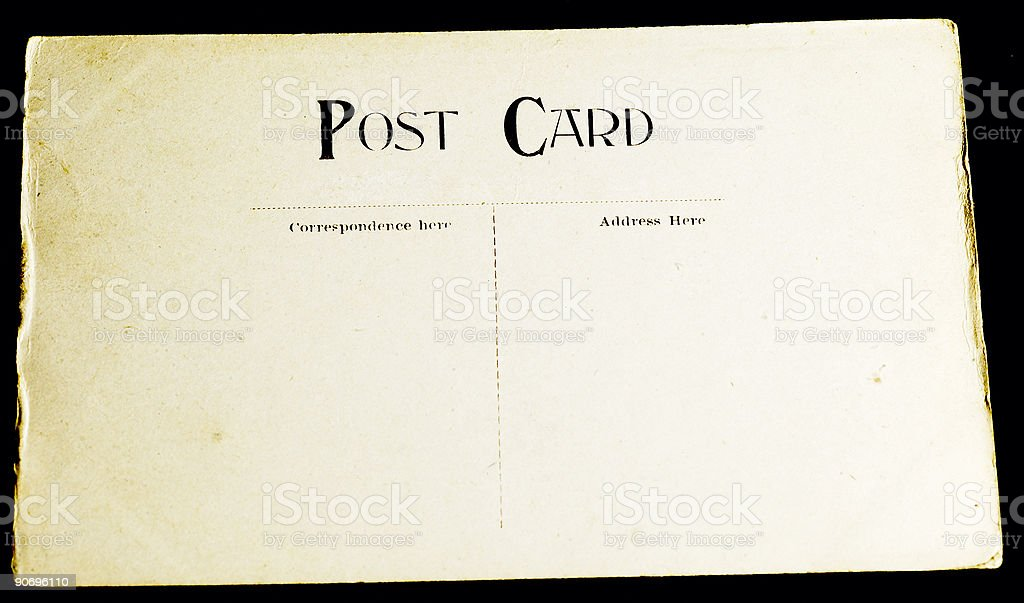blank vintage postcard:6 royalty-free stock photo