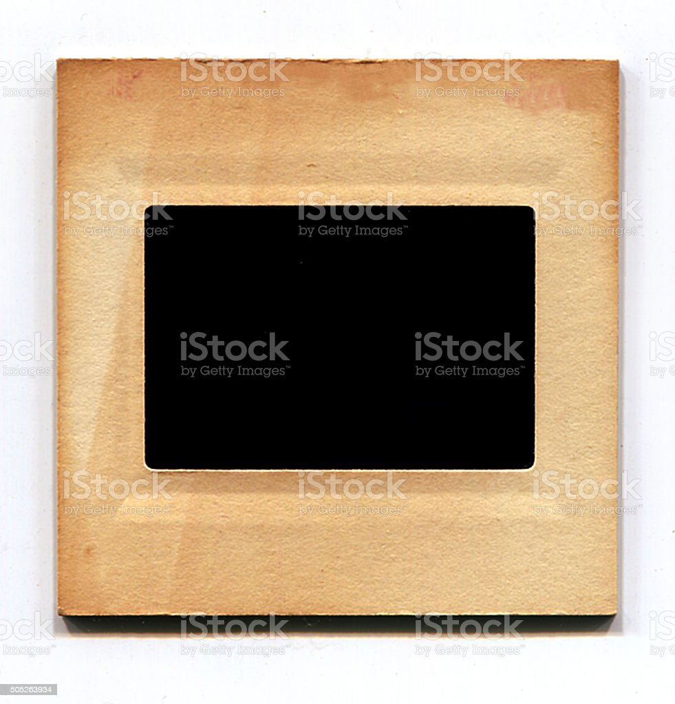 Blank vintage Slide with 2 clipping paths (inside and outside) stock photo