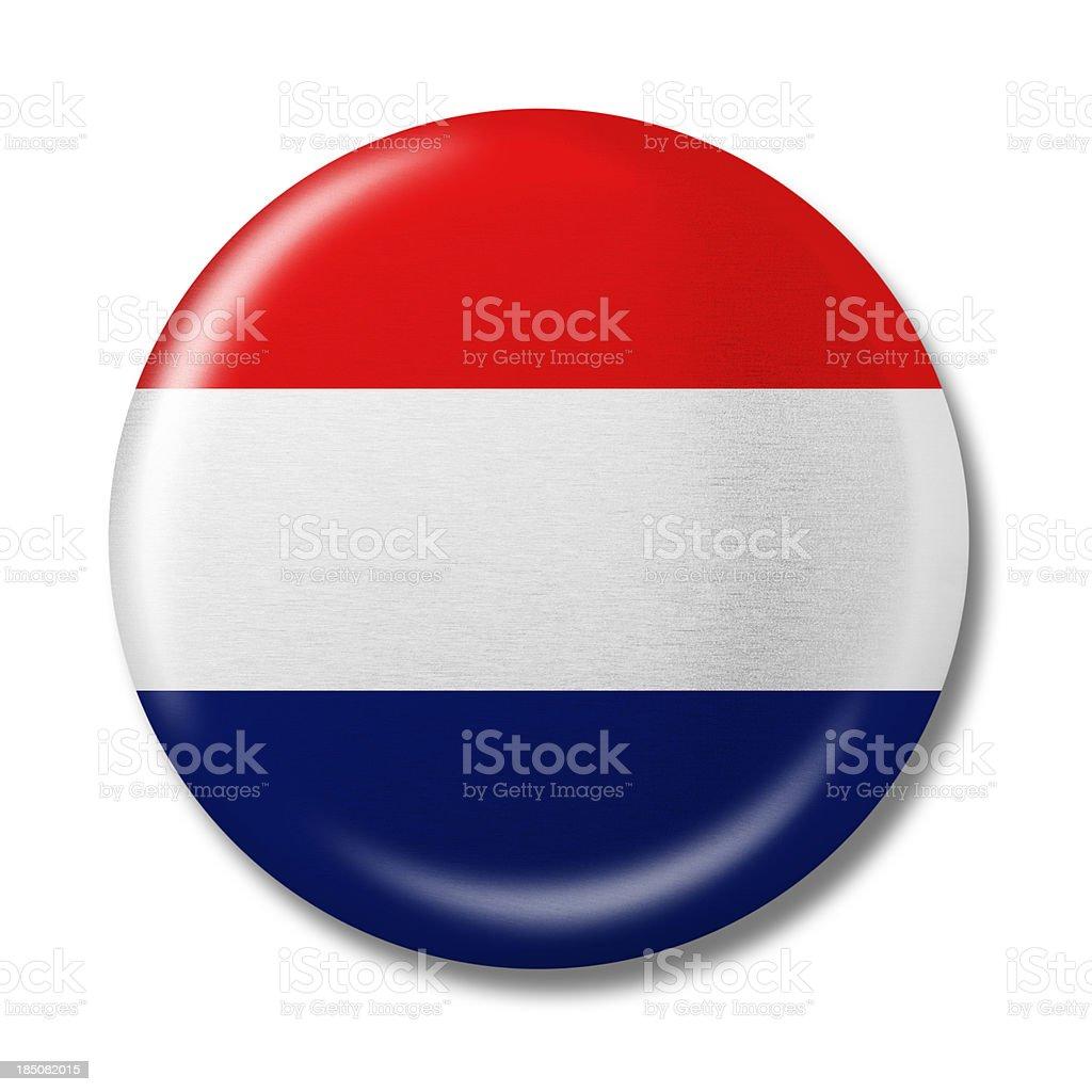 Blank Vote badge stock photo