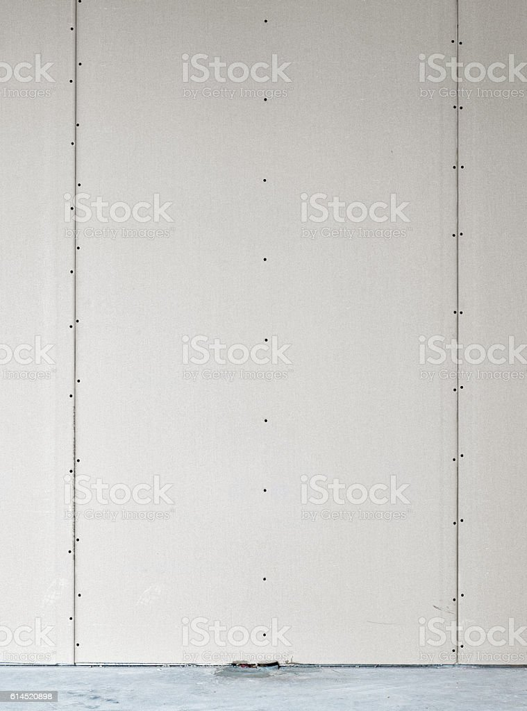 blank wall in new apartment stock photo