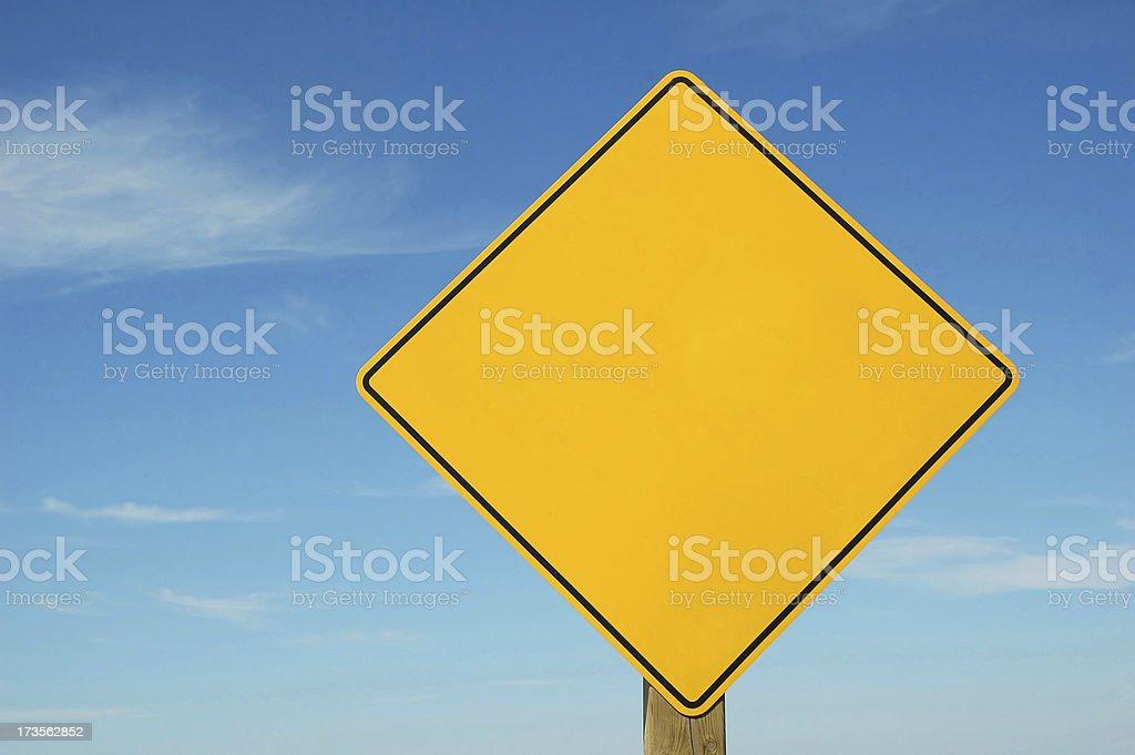 Blank Warning Caution Sign stock photo