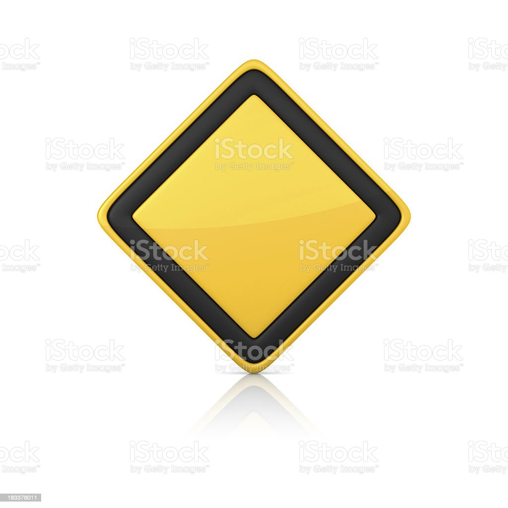 Blank Warning Sign stock photo