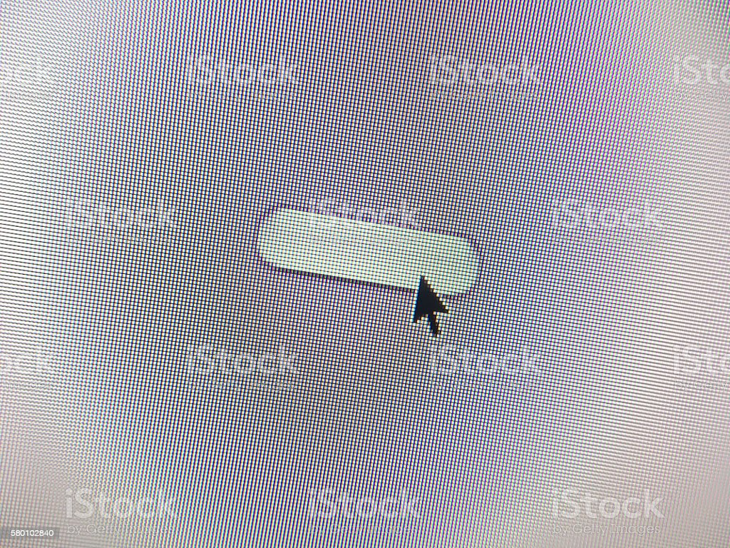 Blank website button with mouse arrow stock photo