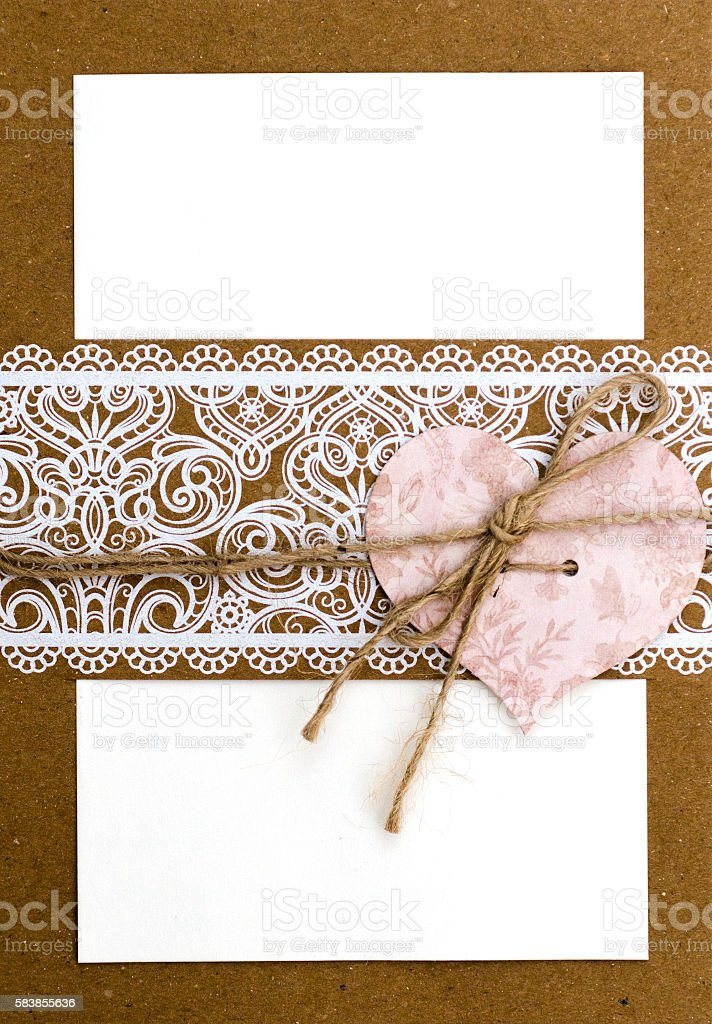 Blank Wedding Invitation stock photo