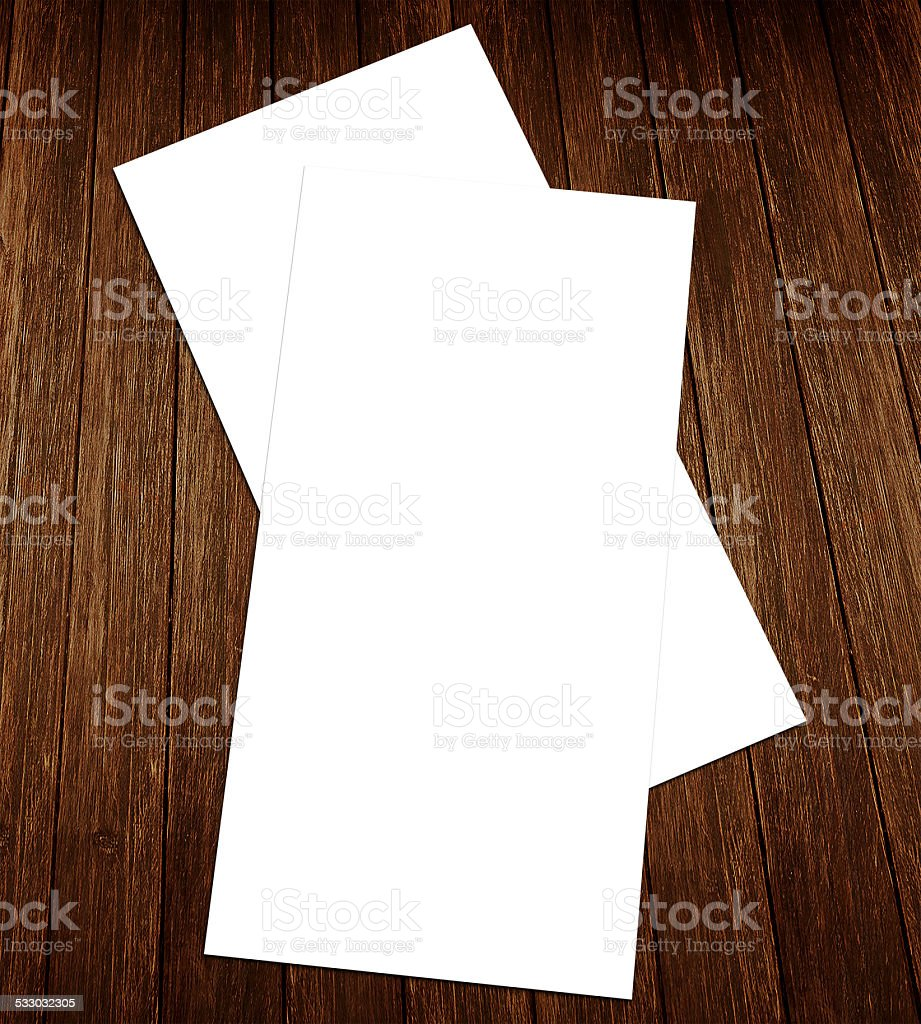 Blank white 4x8 inch flyer collection - 32 stock photo